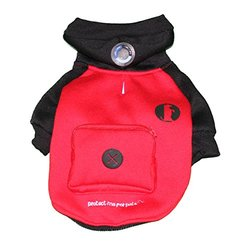 Protect Me Alert Series Sweatshirt and Bag Dispenser Set with Cold Alert Patch for Dogs, X-Small, Black