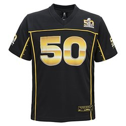 NFL Super Bowl 50 Boys 8-20 Jersey - Black - Size: Large