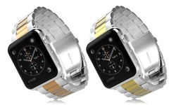 iPM Classic Buckle Band for Apple Watch - Silver/Rose Gold - Size: 38mm