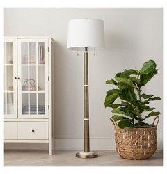 Franklin Floor Lamp Threshold -  Brass White