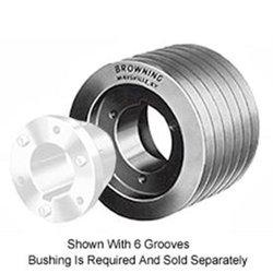 Browning 4P3V47 Split Taper Sheave, Cast Iron, 4 Groove, 3V Belt, Uses P1 Bushing