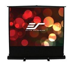 Elite Screens F74XWH1 ezCinema Plus Floor Set Manual Projection Screen, MaxWhite