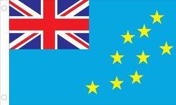 Allied Flag Outdoor Nylon Tavalu United Nation Flag, 5-Feet by 8-Feet
