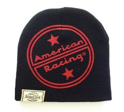 Wicked Quick American Racing Logo Beanie (Color Black, One Size)