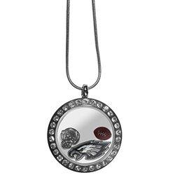 "NFL Philadelphia Eagles Women's Locket Necklace, Metal, 18"""