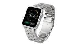 Stainless Steel Metal Link Band for Apple Watch - Silver - Size: 38mm