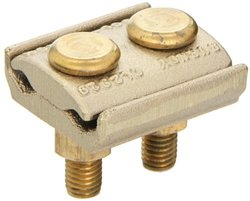 """Burndy GL2929 Ground Connector, 2/0 Sol. - 250 Conductor Range, 2-1/4"""" Width, 2-1/4"""" Height"""