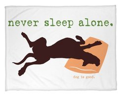 Bentin Pet D cor Never Sleep Alone Throw Blanket, 50 by 60-Inch