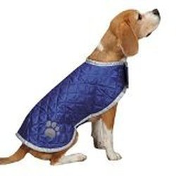 "Casual Canine Quilted Nor'easter Coat for Dogs, 16"" Medium, Pink"