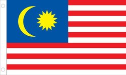 Allied Flag 5x 8-ft Nylon Malaysia United Nation Outdoor Flag - Blue/Red