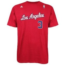 Adidas NBA Los Angeles Clippers T Shirt - Red - Size: Medium
