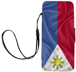 Rikki Knight Philippines Flag Flip Wallet iPhoneCase with Magnetic Flap for iPhone 5/5s - Philippines Flag