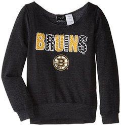 NHL Boston Bruins Patterned Wide Neck Fleece - Black - Size: Large