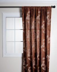 SARO LIFESTYLE 298 Chateau Villereal Curtains, 48 by 108-Inch, Chocolate