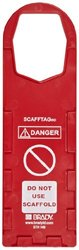 "Brady SCAF-STH146 Plastic, 11-3/4"" Height, 3-1/2"" Width, Red Color Scafftag Holders, Front Legend ""Danger, Do Not Use Scaffold"" (Pack Of 10)"