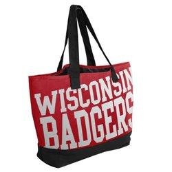 NCAA Wisconsin Metallic Print Tote Bag