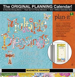 Wells Street by Lang Multiple Blessings 2016 Plan-It Plus by Caroline Simas, August 2015 to December 2016, 12 x 26.5 Inches (7009166)