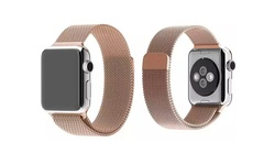 Tribeca 38mm Mesh Band w/ Magnetic Closure for Apple Watch - Rose Gold