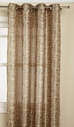 Editex Home Textiles Cosmo Window Panel, 52 by 63-Inch, Gold