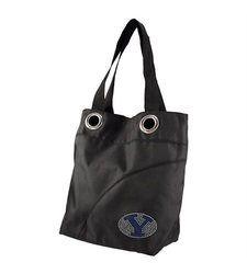Little Earth Women's BYU Cougars NCAA Sport Noir Sheen Tote Bag - Black