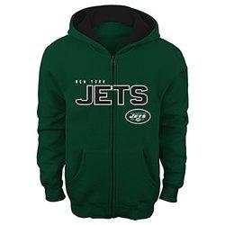 "NFL New York Jets ""Stated"" Full Zip Hoodie - Hunter - Size: 4-7 Medium"