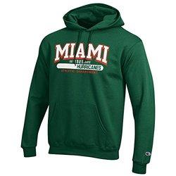 NCAA Miami Hurricanes Fleece Hoodie - Green - Size: X-Large