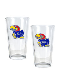 Kansas Jayhawks pc. Pint Glass Set 2