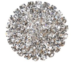 Rhinestone Button BRB-117, 3/4-Inch Silver Resin Base Button, Each Carded