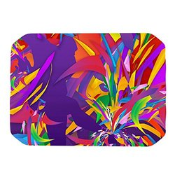 "Kess InHouse Danny Ivan ""Shooting"" Rainbow Purple Placemat, 18 by 13-Inch"