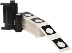 """Brady PTLEP-167-593-BK 1.5"""" Height, 1.2"""" Width, B-593 Adhesive-Taped Polyester, Black Color Raised Panel Labels For TLS Printers (Pack Of 100)"""