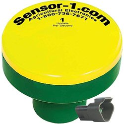 Sensor-1 DS-GPSM-TJ1-Y/G 1 Hz GPS Speed Sensor, Yellow Top and Green Stem Housing with Tee-Jet Connector