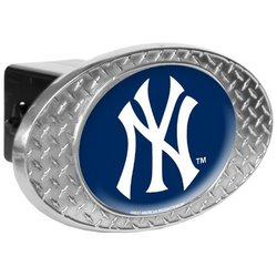 New York Yankees Diamond-Plate Trailer Hitch Cover Multi