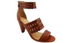 NY VIP Women's 821 High Heel Sandals - Cognac - Size: 8