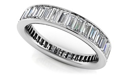 Women's 6.22 CTTW Sterling Silver Swarovski Elements Eternity Band -Size:6