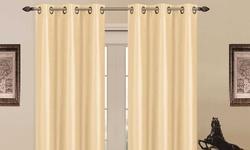 """J&V Textiles 76""""x84"""" Blackout Grommet Panel Pair - Madonna ?Beige"""