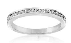 Women's Channel-Set Eternity Diamond-Accent-Band Ring - White Gold - Sz: 5