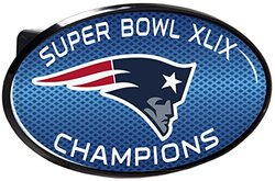 NFL New England Patriots Super Bowl Champ Hitch Cover, Black