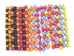 Linpeng 230 Piece Bulk Lot Resin Beads with Six Colors - 15mm