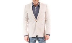 Elie Balleh Milano Italy Men's Slim-Fit Blazer - Tan - Size: L