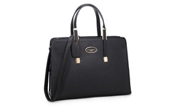 Dasein PA Women's Briefcase Tote Bag w/ Removable Shoulder Strap - Black