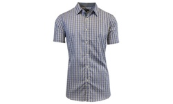 Harvic Men's Slim-Fit Plaid Button-Down Shirt - Pattern 8 - Multi - Sz: L