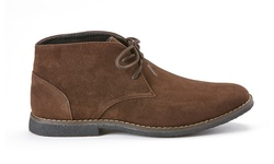 Oak & Rush Men's Micro suede Chukka Boots - Brown - Size: 12
