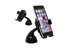 LAX Universal Car Long Mount Holder for iPhone - Black