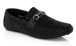 Franco Vanucci Men's Roberto Driver Shoes - Black - Size: 12