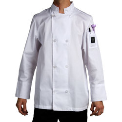 Chef Revival Men's Poly-Cotton Cool Crew Chef Jacket - White - 4XL