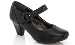 Rasolli 1138 Women's Comfort Career Dress Shoes - Black - Size: 8