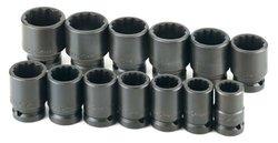 SK 13pc Impact 12pt Standard Socket Set SAE 3/4 Dr