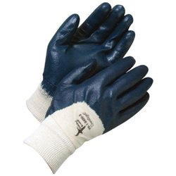 Bob Dale Single Dipped Nitrile Coated Palm Gloves - 5 Pk - Navy Blue/10