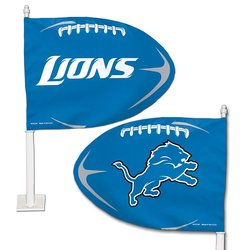 SmileMakers NFL Detroit Lions Car Flag - Blue