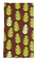 rockflowerpaper Pine Cone Cotton Kitchen Towels, Brown, Set of 6